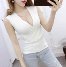 Áo body kiểu cổ đáp chéo đẹp quyến rũ