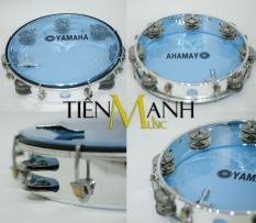 Trống lắc tay – Lục lạc gõ bo Tambourine Yamaha MT6-102B (Xanh Trong Suốt – Trống chơi nhạc chế gõ po – Xipo)