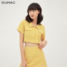 Áo croptop nữ nắp túi thời trang GUMAC mẫu mới AB332