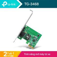 TP-Link PCI Express Card 10/100/1000Mbps Quản lý LAN thuận tiện – TG-3468 – Hãng phân phối chính thức