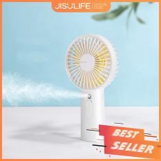 Quạt cầm tay phun sương Jisulife F9 – Màu trắng – Tạo ẩm chăm sóc da mặt 2 in 1 – Sạc nhanh 3 giờ – hoạt động 20 giờ liên tục – bền bỉ không gây tiếng ồn – Bảo hành 12 tháng – Hàng chính hãng