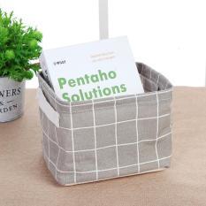 Giỏ vải đựng đồ cá nhân văn phòng chống thấm nước xinh xắn Thùng vải đựng đồ chơi mỹ phẩm hình hộp gấp gọn tiện dụng UKS2357