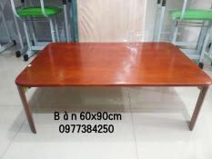 Bàn Gỗ Xếp Chân Bánh mỳ 60×90