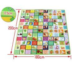 Thảm MABOSHI 2 mặt cho bé thông minh, [1.6m x 2m] [2.2m x 2m], [1.8m x 2m Nhiều màu