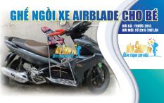 Ghế ngồi xe máy có vòng xếp gọn xe AIRBLADE