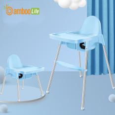 Ghế ăn dặm cho bé Bambo Life BL085 đa năng có thể gấp gọn, thay đổi độ cao tiện lợi dùng ở nhà, mang đi du lịch