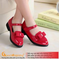 Giày học sinh bé gái đính nơ giày đi học bé gái đẹp G042