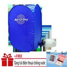 Máy sấy quần áo mini 7kg đa năng / Máy sấy quần áo Air O Dry AOD+ Tặngtúi ĐT chống nước (Xanh)