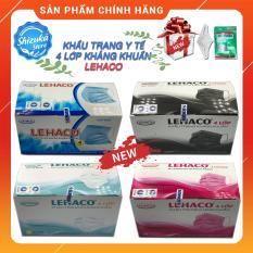 Khẩu trang y tế 4 lớp kháng khuẩn, [Auth 💯 LEHACO], Đạt tiêu chuẩn ISO