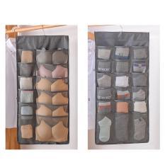 Túi đựng đồ lót, tất vớ treo tủ 30 ô hai mặt vải oxford chống ẩm, chống bụi