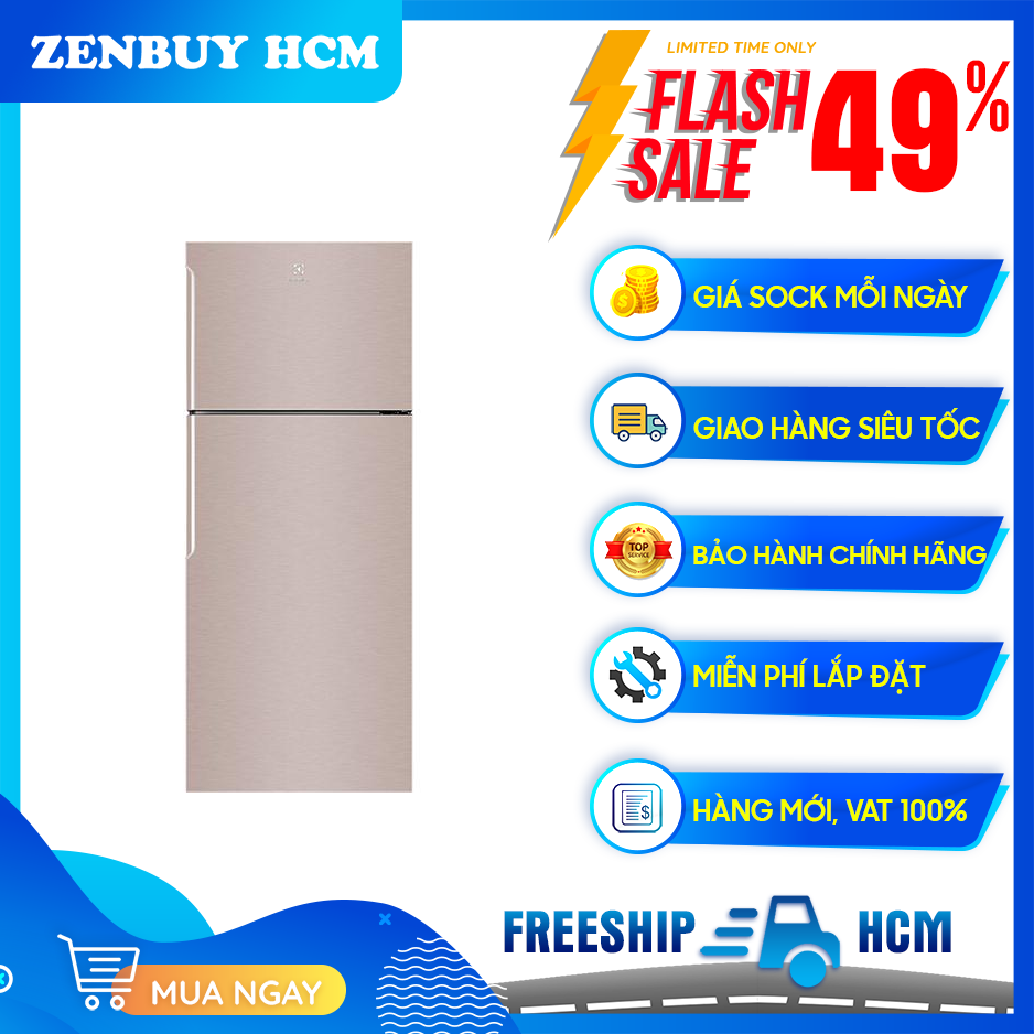 [Trả góp 0%]Tủ lạnh electrolux 460 LÍT ETB4600B-G