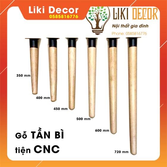 [Giá xưởng tiện CNC] Chan bàn gỗ Tần Bì 50cm nhập khẩu tiện CNC kèm đế thép dạng ống lồng chịu lực cao| liki Decor | sơn tĩnh điện