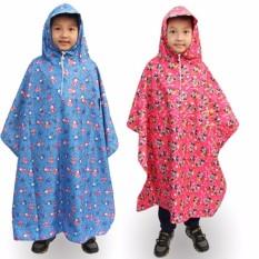 Áo Mưa Trẻ Em Vải Dù Bít 2 Bên từ 6 đến 11 tuổi cho bé