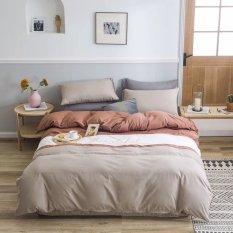 Bộ 5 Món Chăn Trần Bông Ga Gối Cotton Tici Xuất Nhật Beauty Phối Màu Lan Pham Bedding