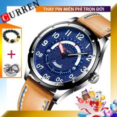 [BH 1 NĂM] [THEO DÕI SHOP NHẬN VOUCHER 10K] Đồng hồ nam dây da CURREN 8267 new 2020 (TẶNG HỘP VÀ PIN)