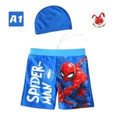 [TẶNG KÈM NÓN] – Quần bơi bé trai siêu nhân từ 10-39kg – Vải polyester co giãn tốt -Red Ant Kids