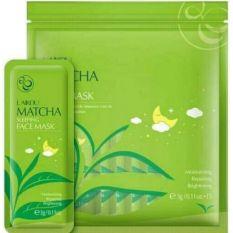 Túi 15 gói mặt nạ ngủ Matcha Mud Mask Laikou dưỡng da mụn cấp ẩm thải độc trà xanh