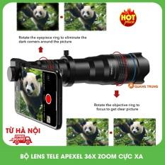 Bộ ống kính,lens tele apexel 36X siêu zoom xa,dành cho điện thoại