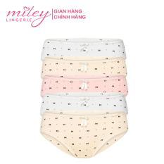 Bộ 5 quần lót nữ Basic MILEY LINGERIE thun lạnh họa tiết in nơ