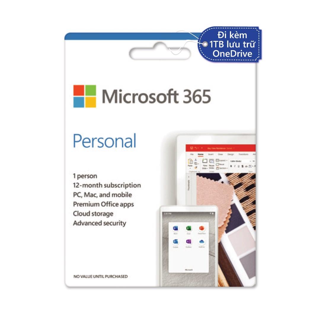 Phần mềm Microsoft 365 Personal | 12 tháng | Dành cho 1 người| 5 thiết bị/người | Trọn bộ ứng...