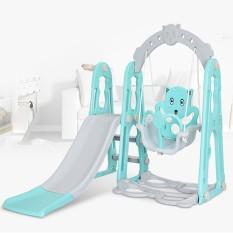 Combo cầu trượt và xích đu cho bé kèm bóng rổ – đồ chơi cho bé – đồ chơi trong nhà – chất liệu nhựa cao cấp