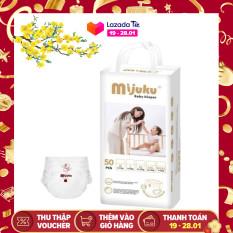 COMBO 2 Hộp tã quần – bỉm quần MIJUKU 50×2 miếng mỏng nhẹ siêu khô thoáng, thấm hút tốt giúp bé ngủ ngon
