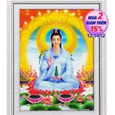 Tranh đính đá 5D – Phật Quan Thế Âm Bồ Tát 138. Kích thước: 38x 50cm Khách hàng tự đính đá để hoàn thiện sản phẩm