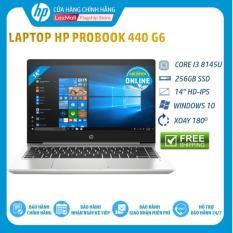 [Nhập mã HP3MIL giảm thêm 2 triệu] Laptop HP ProBook 440 G6 (Core i3 8145U,4GB RAM DDR4,256GB SSD,Intel UHD Graphics,14 HD,Win10Home) 8GV28PA Hàng Chính Hãng