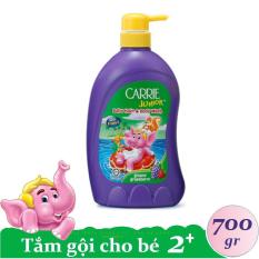 Tắm Gội Toàn Thân cho trẻ Carrie Junior Hương Grapeberry chai 700g