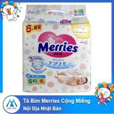 Tã Bỉm Merries dán/quần cộng miếng Nội Địa Nhật Bản mềm mại thông thoáng DTA size SS90-S82-M58-M64-L44-L58-XL38