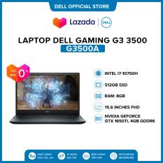 Laptop Dell Gaming G3 3500 15.6 inches FHD (Intel / i7-10750H / 8GB / 512GB SSD / NVIDIA GeForce GTX 1650Ti, 4GB GDDR6 / Finger Print / Win 10 Home Plus SL) l Black l G3500A l HÀNG CHÍNH HÃNG