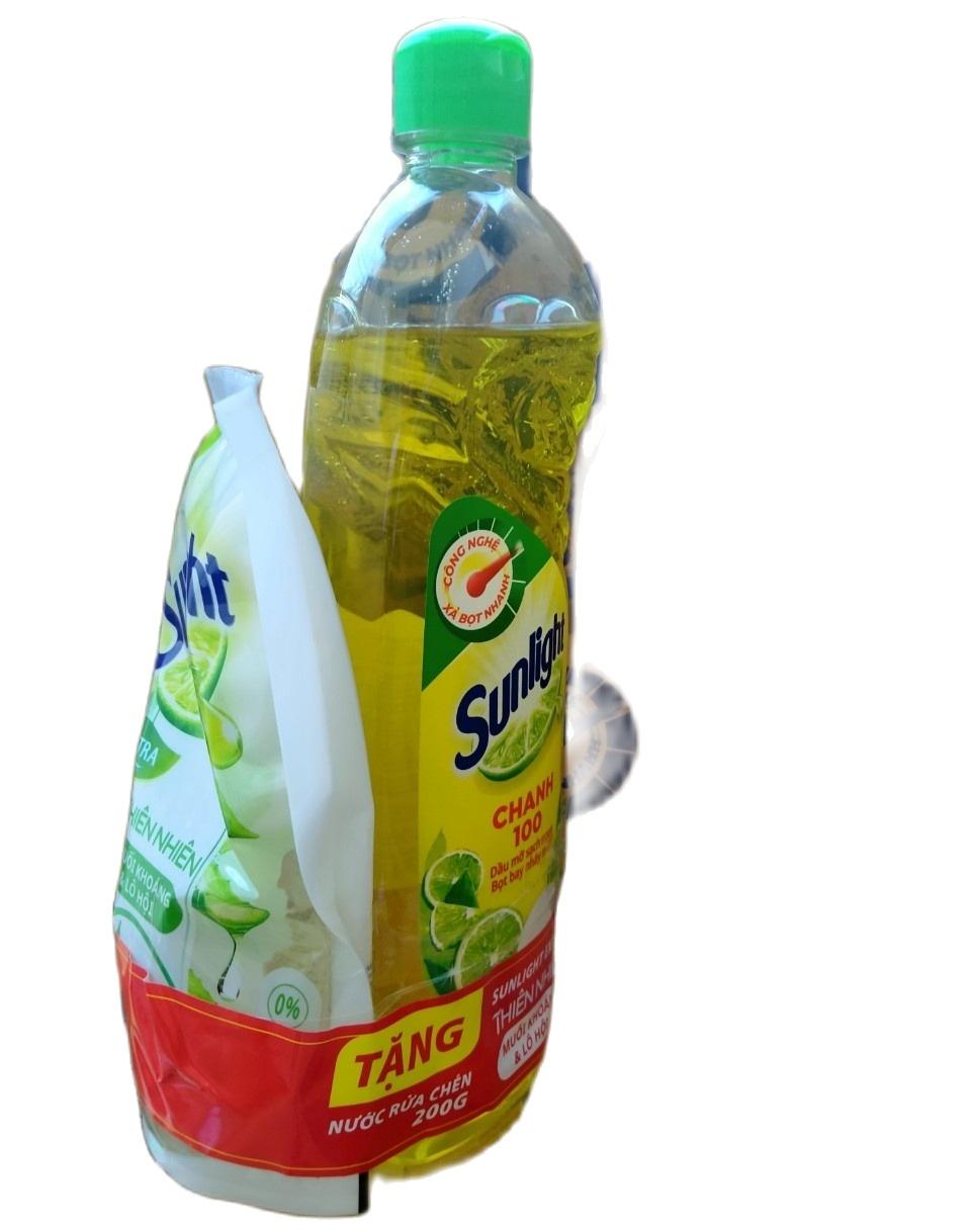 Nước rửa chén sunlight 730ml hương chanh (dạng chai) Tặng Túi 200g Muối Khoáng và Lô Hội