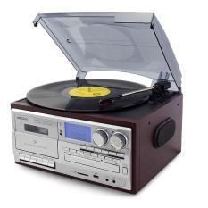 Đầu đĩa than phono vinyl đa chức năng có CD, Băng tape, Bluetooth, FM AM, Đĩa Than, Có Loa Điều Khiển Looptone DCK-2 Tặng kèm 1 đĩa than