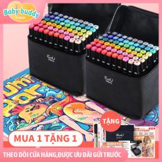 [Tặng thêm bút, hộp đựng & bảng màu] Bút vẽ, bút màu Marker Touch Cool tặng hộp đựng siêu xinh, hộp bút màu cho bé tập vẽ gồm 60 bút màu, bút chì màu, bút lông màu, bút highlight, hộp bút màu cho bé tập tô vẽ, quà tặng con yêu