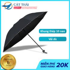 Ô dù che mưa Cát Thái YS-039 nhỏ gọn, kích thước dù lớn, khung dù bằng thép 10 nan chắc chắn, cầm tay thoải mái