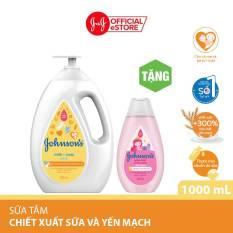 Sữa tắm Johnson's baby milk oat chứa sữa và yến mạch 1000ml (MỚI) – 540019980