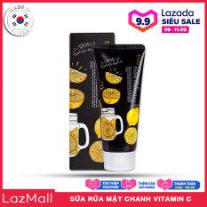 Sữa Rửa Mặt Dưỡng Trắng Sáng Da Chiết Xuất Chanh 3W Clinic Vitamin C Foam Cleansing 100ml