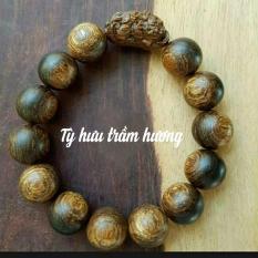 Vòng tay Tỳ hưu trầm hương sánh chìm(16ly) thiên nhiên Khánh Hòa.mang may mắn tài lộc sức khỏe bình an cho gia chủ