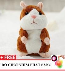 Chuột HAMSTER nhại tiếng biết nhảy cho bé Talking Hamster (Nâu vàng) – TẶNG 1 ĐỒ CHƠI NHÍM PHÁT SÁNG