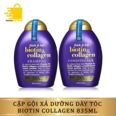 Bộ Dầu Gội Xả – Dầu Gội Cặp Dưỡng Dày Tóc Biotin Collagen 385ml