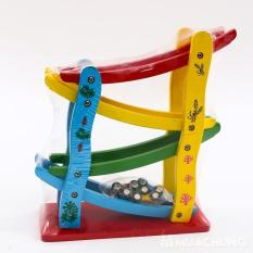 Đồ chơi gỗ đường đua ô tô mini zic zac 4 tầng cho bé siêu hấp dẫn Băng trượt 4 tầng MonShop Đồ Chơi cho bé trai