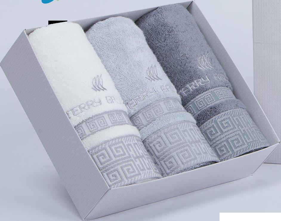 Bộ 03 Khăn Sợi Tre Cao Cấp – Hàn Quốc (Songwol TG Lattice 40x80cm)