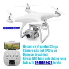 Flycam xk x1 gimbal 2 trục camera 1080p có GPS động cơ brushless quay phim chuyên nghiệp tự bay về