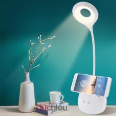 [ Hàng chất lượng ] Đèn bàn tích điện cảm ứng 3 chế độ ánh sáng vàng nắng chống cận thị 772
