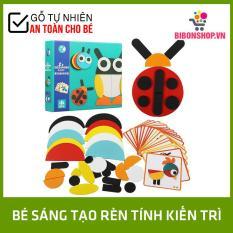 Bộ Tranh Ghép Hình Montessori Fun Board – Đồ Chơi Gỗ An Toàn Cho Bé