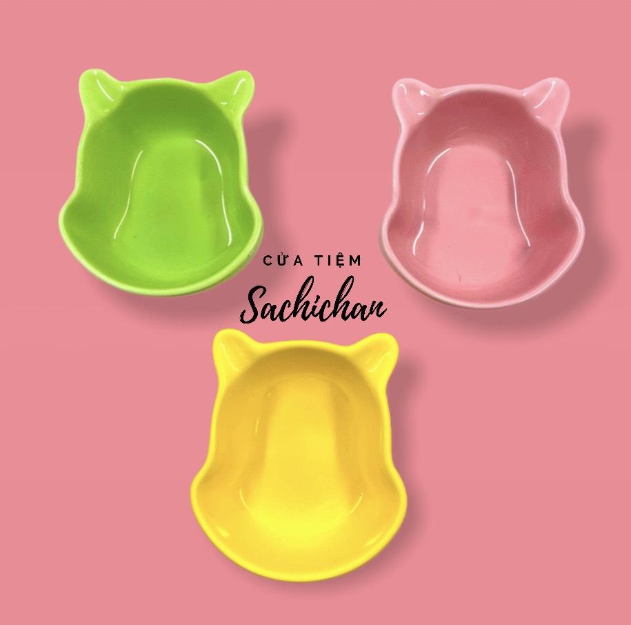 [Cửa tiệm Sachi Chan] Chén bát ăn dặm hình gấu Pooh cỡ nhỏ 80ml chất liệu sứ an toàn cho...