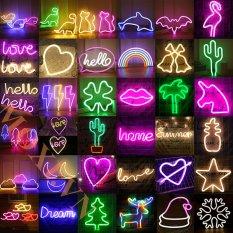 Đèn LED Neon Dạng Treo Đa Dạng Mẫu Hình Trái Tim Chữ Love Chữ Hello Trang Trí Nhà Hàng Khách Sạn Homestay Quán Bar Quà Tặng Ý Nghĩa