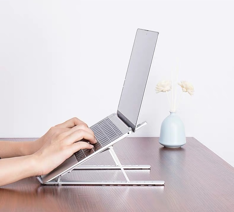 Giá Đỡ Laptop Stand Nhôm Hỗ Trợ Tản Nhiệt Có Thể Gấp Gọn Điều Chỉnh Độ Cao Để Máy Tính...