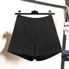 Quần short vải nữ cạp cao thời trang Rosara SP 36