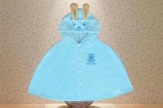 Áo choàng hình Thỏ màu xanh da trời siêu đáng yêu và ngộ nghĩnh dành cho bé 0-3 tuổi